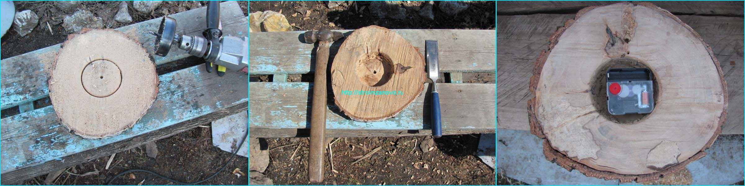 Часы из спилов дерева своими руками