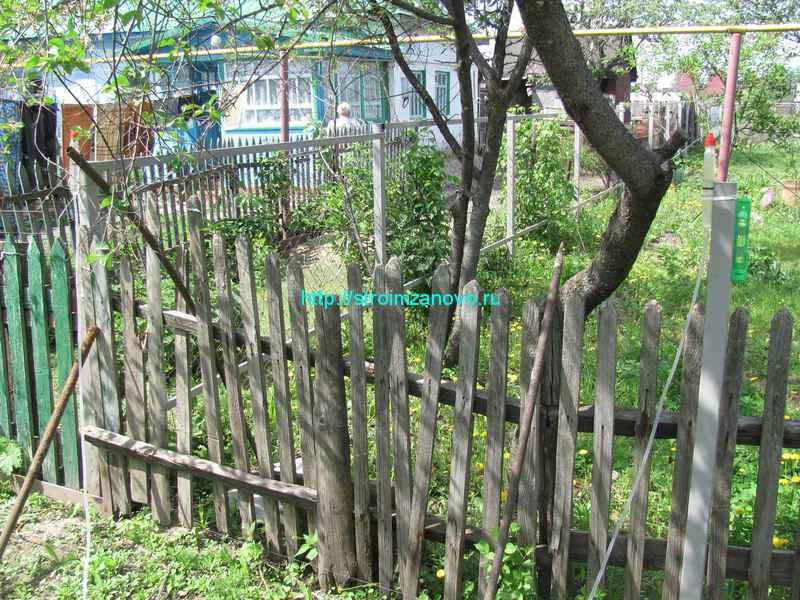 Забор своими руками ремонт 6
