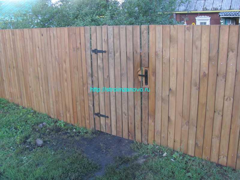 Забор на даче цена с установкой (от 330 рублей за) 56