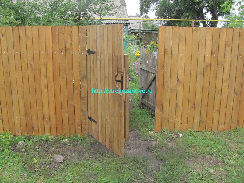 Как сделать калитку в заборе из дерева