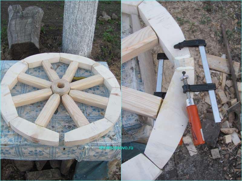 Деревянное колесо своими руками 93