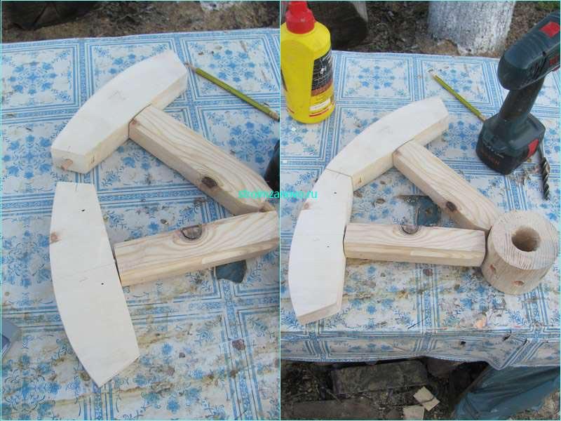 Как сделать деревянные колесо