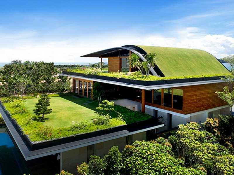 Плоская крыша для частного дома 48