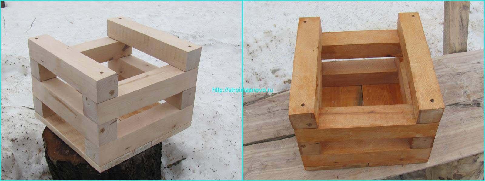 Поделки из деревянных брусков 14