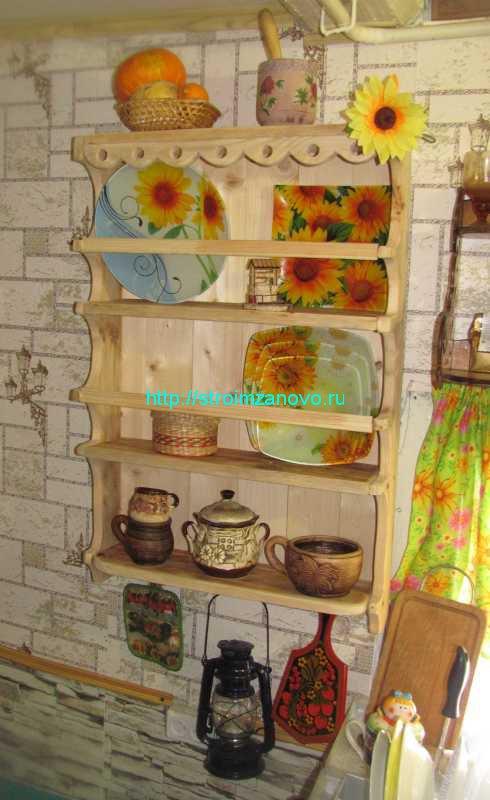 Декоративная полочка на кухню своими руками 71