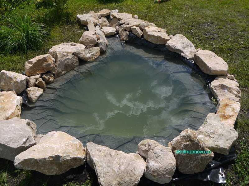 Как сделать каменный пруд своими руками 33
