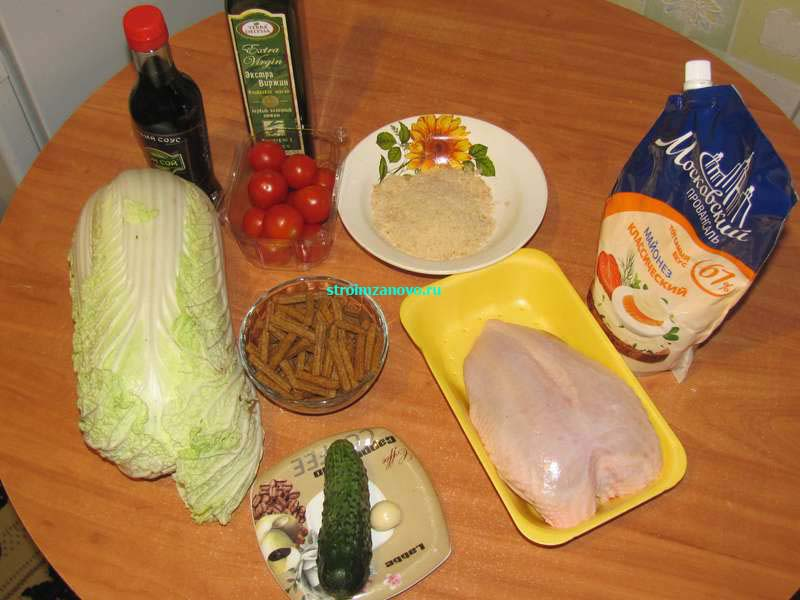 цезарь салат рецепт с курицей и сухариками с фото