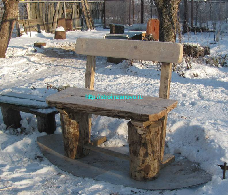 Как сделать скамейку из подручных материалов 555