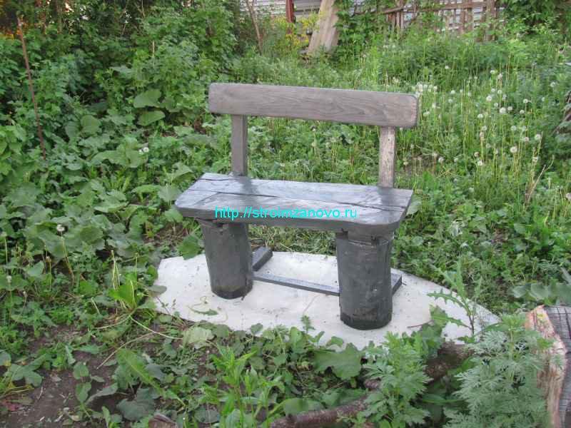 Деревянный скамейка своими руками