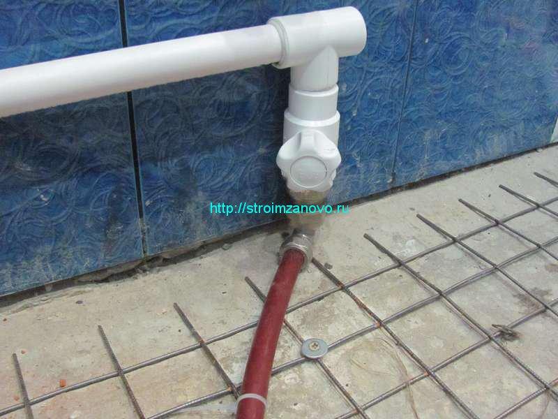 Теплый пол в ванной от отопления