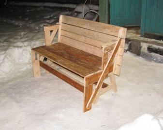 Скамейка-трансформер своими руками / Дизайн / скамейка стол / Pinme.ru / Артем Кондратьев