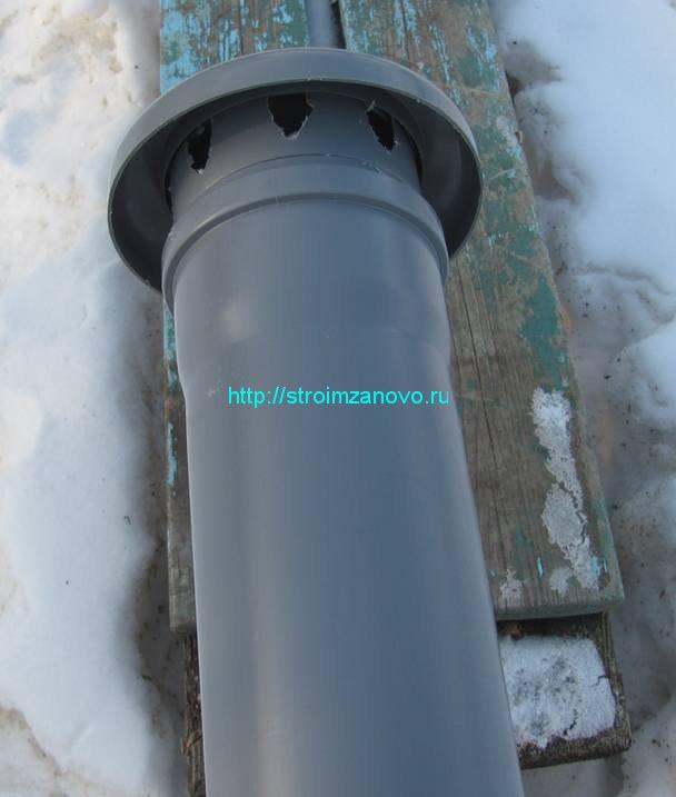 Вентиляция частного дома из канализационных труб своими руками 843