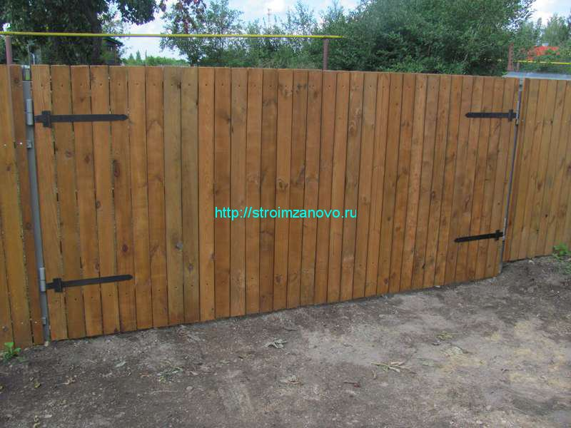 Ворота распашные на забор своими руками
