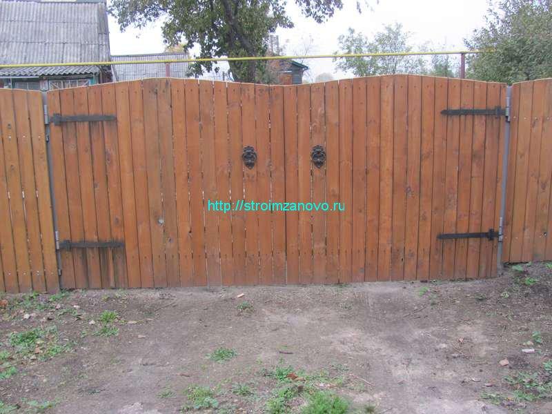 Ворота дачные распашные своими руками 53