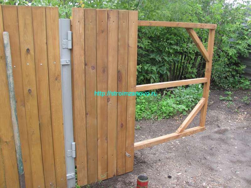 Как сделать ворота из досок