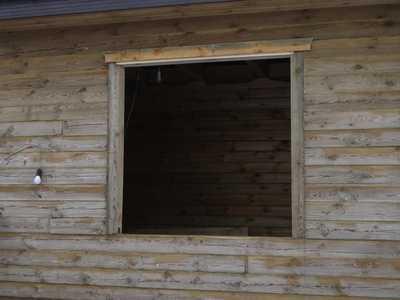 окосячка окна